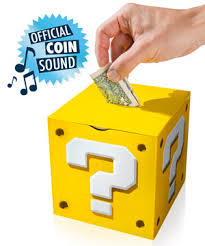 Mario Bros Question Block Lamp by Super Mario Money Box Coin Bank With Authentic Sound Effects