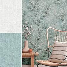 kirschblüten tapete dschungel tapeten wohnzimmer oase fototapete 10 05 mx 0 53 m cosy relax uni blau grün