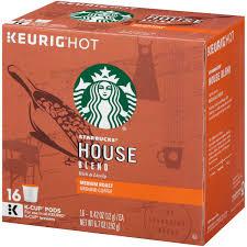 Pumpkin Spice Keurig Starbucks by Starbucks House Blend Medium Ground Coffee K Cups 16 Ct Box
