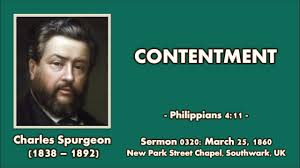 Sermon 0320 Contentment Charles Spurgeon 1860