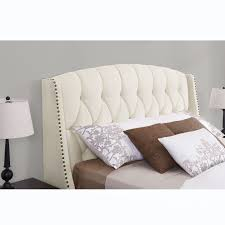 Amazon King Tufted Headboard by King Upholstered Headboard Handy Living Vara Straight Nail Head