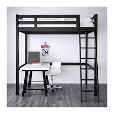 STOR… Loft bed frame black IKEA