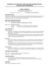 Resume Example With Limited Work Experience And Related Post To Make Cool 693