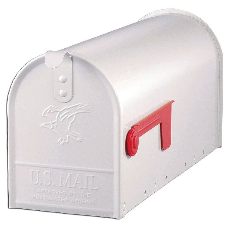 Solar Group Elite T1 Rural Mailbox - White, Galvanized Steel