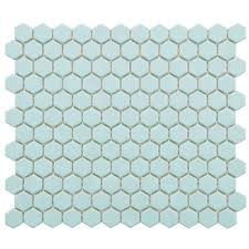 Home Depot Merola Lantern Ceramic Tile by Merola Tile Galaxy Penny Round Oceano 11 1 4 In X 11 3 4 In X 9