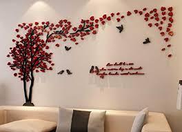 amazon com 3d couple tree wall murals for living room bedroom