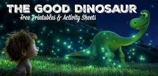 Disneys The Good Dinosaur Free Printables Activity Sheets