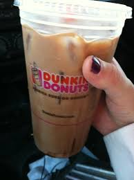 Iced Mocha Latte With Whip Cream And Sugar From Dunkin Donuts My Favorite Coffee Now Dd