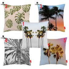 US $6.29 40% OFF|Vintage Oasis Tropical Palm Tree Leaf Print Decorative  Pillowcase Cushion Covers Sofa Chair Home Decor-in Cushion Cover From Home  & ...