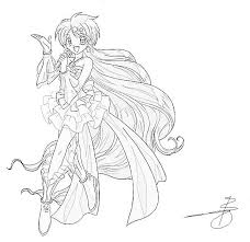Coloring Page Mermaid Melody Pichi Pitch Cartoons 42