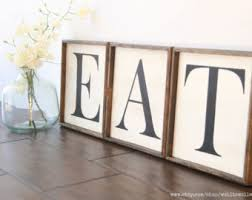 Eat Wood Letter Sign Farmhouse Kitchen Wooden Signs Wall