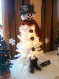 Awesome Snowman Christmas Tree Decorating Ideas White With