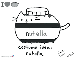Pusheen Cat Coloring Pages Idea Free Printable Download This Page
