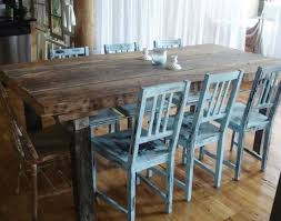 Chair Awesome Rustic Dining Room Furniture With Distressed Chairs And Reclaimed Wood Table How To Distress Painted Tv