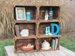 Hand Crafted Small Wood Crate Stackable Made From Reclaimed Pallets Set Of 6 By Interior