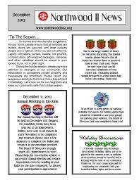 100 Condo Newsletter Ideas December 2012 Northwood II NWII HOA Community Association