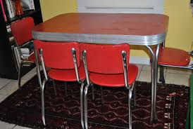100 Red Formica Table And Chairs Vintage 1950s And Chrome Dinette Set With 4 Chairs Mid
