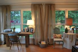 Smocked Burlap Curtain Panels by Ceiling Interesting Burlap Curtains For Complete The Family