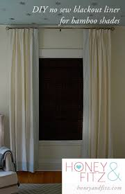 Light Blocking Curtain Liner Fabric by Diy No Sew Blackout Lined Bamboo Shades