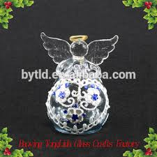 Handblown Stained Glass Angel Christmas Tree Ornaments Wholesale