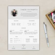 Modern A4 Us Letter Resume Template Free Cover Letter Etsy