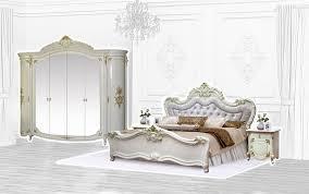 interdesign24 schlafzimmer set barock set in beige gold 4 tlg doppelbett 180x200 kleiderschrank 6 trg 2 nachtkommoden