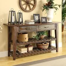 Rustic Console Table Divine Family Room Style Fresh On