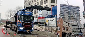 100 Truck Mounted Crane Dutch Truckmounted Crane Extends To A Record 57 Metres Scania Group