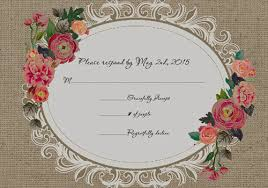 Wedding Invitations EWI397 Cheap Vintage Rustic Roses Rsvp Card