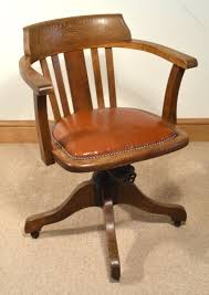 1930s Oak Swivel Chair - Antiques Atlas