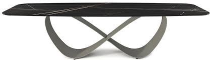 casa padrino designer esstisch schwarz titangrau verschiedene tischgrößen moderner rechteckiger esszimmertisch mit keramik tischplatte