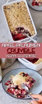 apfel pflaumen crumble