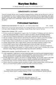 Elegant Administrative Assistant Resume Examples