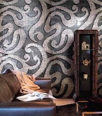 living room mosaic tile wall glass textured pixall