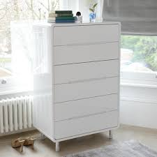 notch tall chest of drawers white dwell