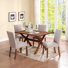 5 Piece Oval Dining Room Sets by Amazon Com Dorel Living Multi Functional Dining Table Dark Pine