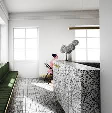 Modern Terrazzo On Twitter Stunning Reception Area With Flooring And Desk