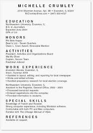 College Student Resume Objective Examples Part Time Job Creero Contemporary Format For High School