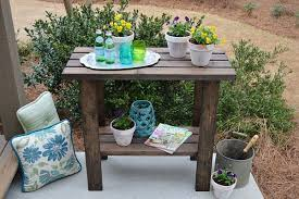 45 diy potting bench plans that will make planting easier free