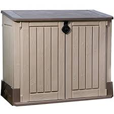 Keter Manor Shed Grey by Keter Manor Outdoor Plastic Garden Storage Shed 4 X 3 Feet Grey