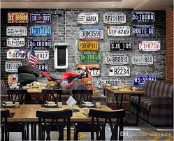 großhandel europa amerika nostalgischen retro ziegel platte motorradreifen großes wandbild 3d tapete für wände 3d schlafzimmer wohnzimmer tv