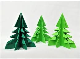 how to make simple easy paper christmas tree diy paper craft