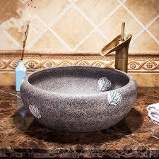europa vintage style keramik kunst becken waschbecken arbeitsplatte waschbecken bad schiff sinkt eitelkeiten badezimmer waschbecken schalen