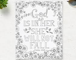 Coloring Page God Is In Her Printable Bible Verse Psalm 465 Instant Download