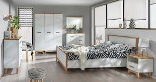 schlafzimmer komplett set b panduros 7 teilig farbe kiefer weiß eiche braun