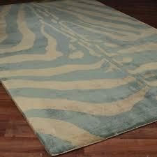 Teal Zebra Print Tufted Rug Teal Lovin