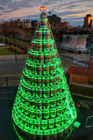 Christmas Tree Shop Henrietta Ny by Genesee Brewery Builds Giant Beer Keg Christmas Tree Beeralien