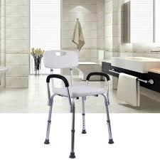 yonntech dusche hocker höhe einstellbare dusche stuhl bad sitz mit rückenlehne armlehne