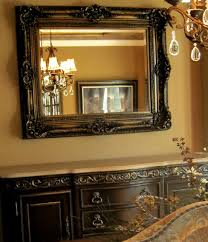 Hand Painted Buffet And Mirror