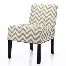 Jaxpety Leisure Armless Accent Chair Wave Print Fabric Chairs With ...